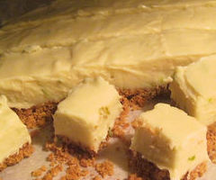 key lime white chocolate fudge